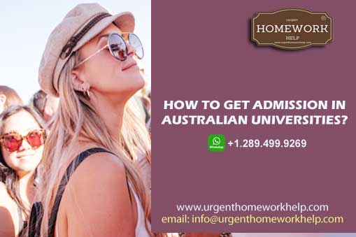 how to admission in Australian universities?