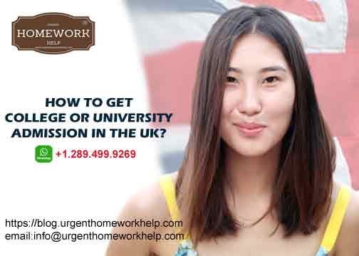 How to Get College or University Admission in the UK?