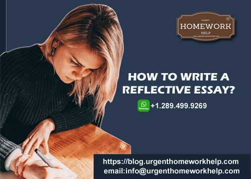 Help writing reflective essay