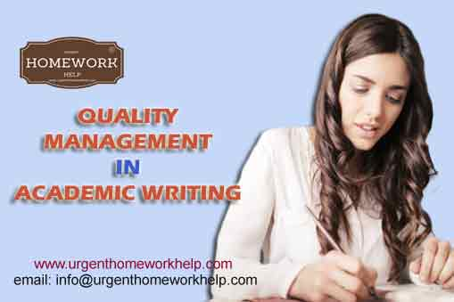 Quality Management in Academic Writing