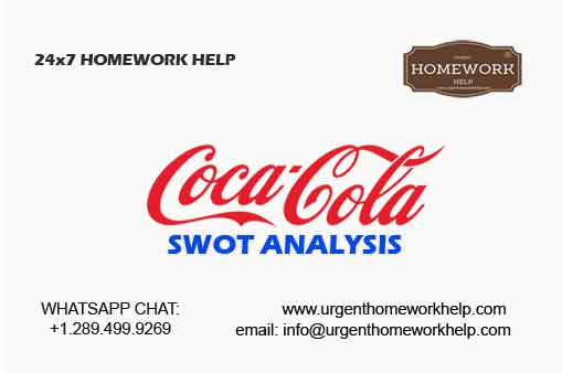 case-study writing help on Coca Cola SWOT analysis