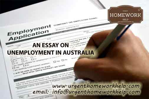 essay on unemployment in Australia